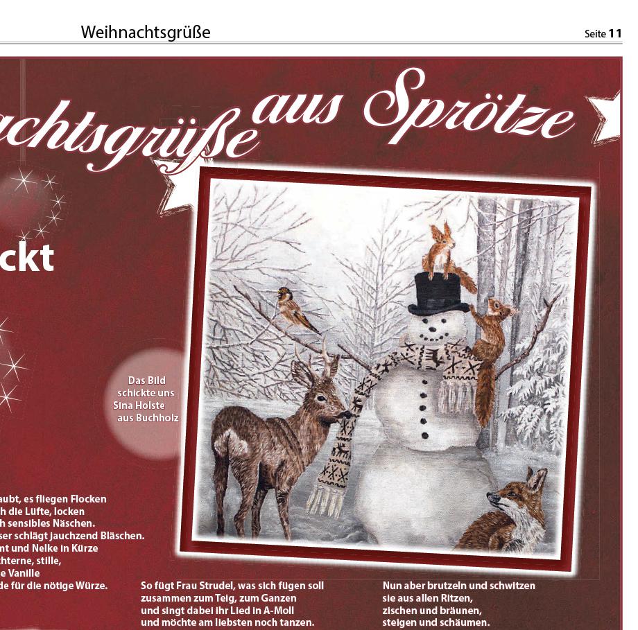 Schneemann Wochenblatt